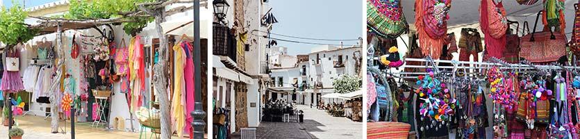 Shoppen op Ibiza tijdens de regen