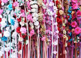 Ibiza hippiemarktje haarbandjes