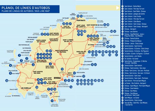 Buskaart Ibiza